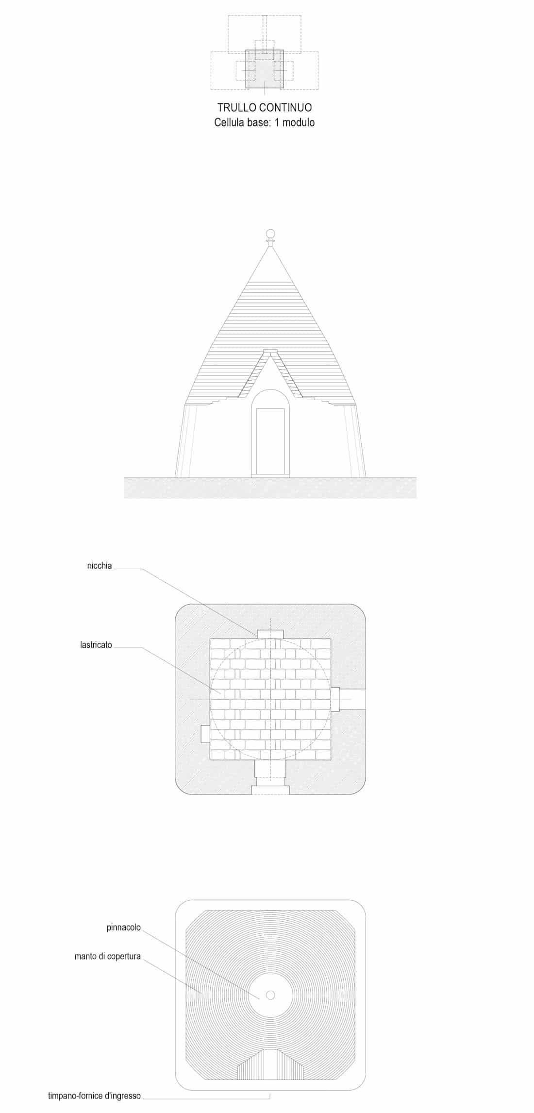 Studio tipologico trulli Cisternino 02