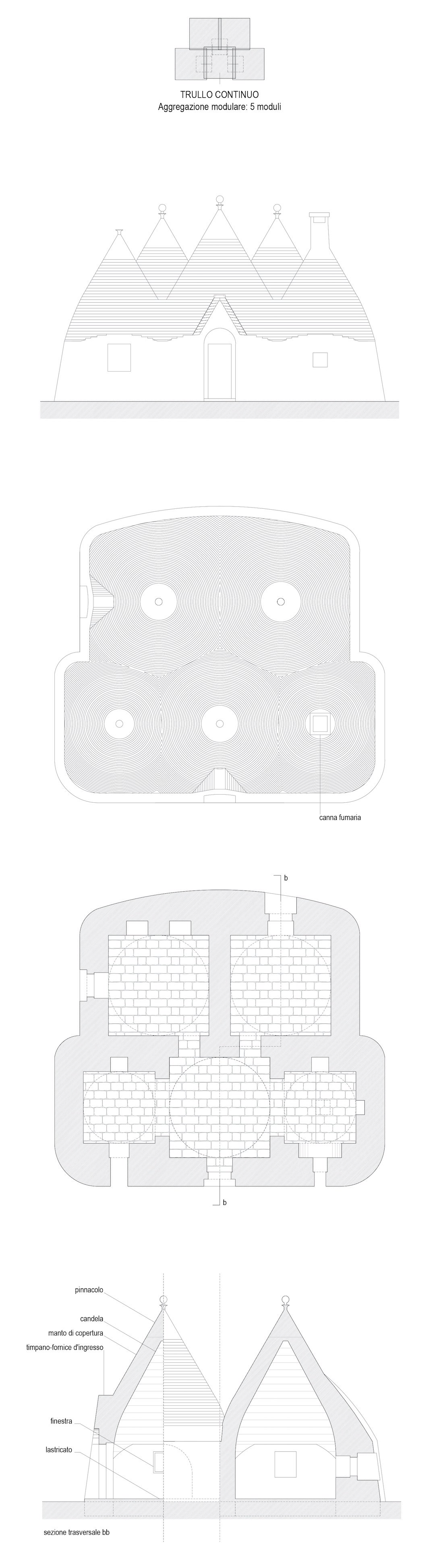 Studio tipologico trulli Cisternino 04