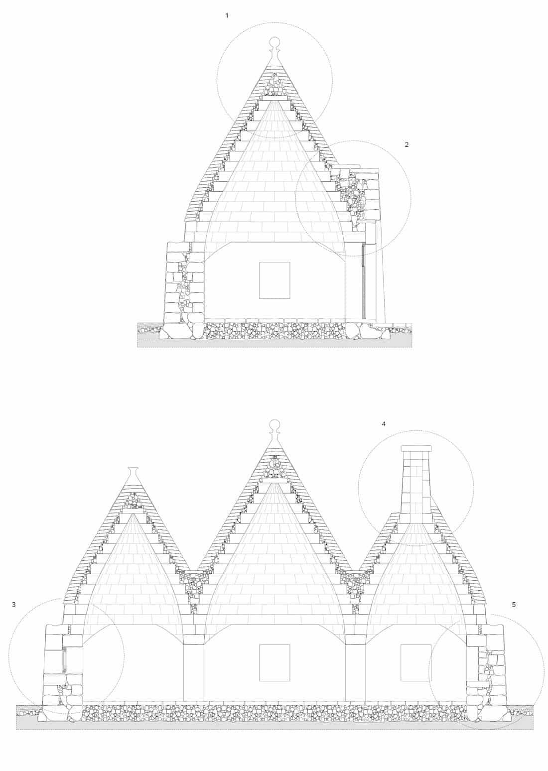 Studio tipologico trulli Cisternino 07